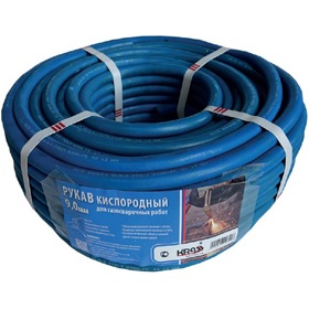 Рукав кислородный сварочный диаметр 9,0 мм PREMIUM GCE KRASS арт. 2921030